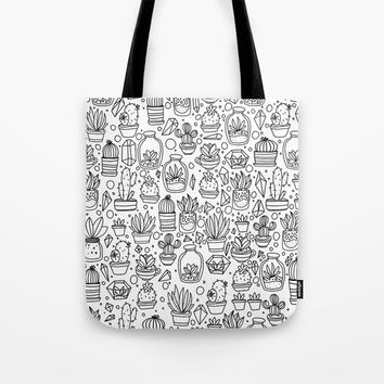 Succulents & Cactus Tote Bag by Inspire Your Art