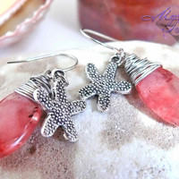 Starfish Earrings from Hawaii, Hawaiian jewelry for beach brides by Mermaid Tears