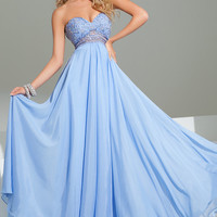 Strapless Sweetheart Floor Length Dress by Tony Bowls