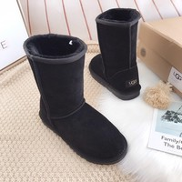 UGG Fashion Plush leather boots boots in tube Boots-9