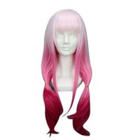 "Tengs 26"" Gradient Light Pink to Fushia Cosplay Wig -- Guilty Crown Yuzuriha Inori"