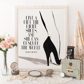 """Marilyn Monroe Poster """"The Right Shoes Conquer The World"""" 