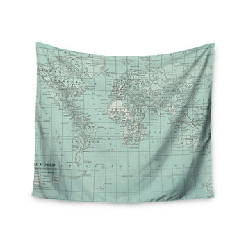 "Catherine Holcombe ""The Old World"" Blue Teal Wall Tapestry"