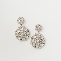 Theresa Crystal Flower Earrings