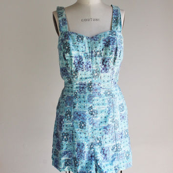 Vintage 1950s Catalina Playsuit Romper, Part Of The Art Of Eve, Plus Size