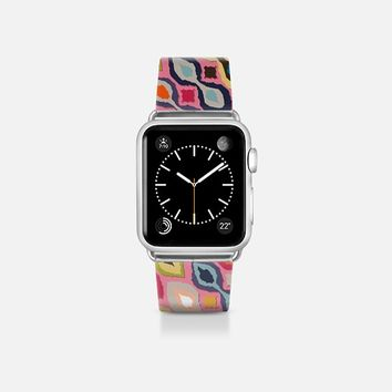 carnival ikat pink apple watch band Apple Watch Band (38mm)  by Sharon Turner | Casetify