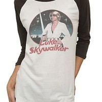 Junk Food Luke Skywalker Vintage All American Raglan Juniors T-shirt - Star Wars - | TV Store Online