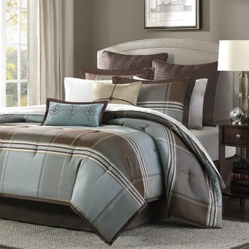 Madison Park Lincoln Square 8 Piece Comforter Set