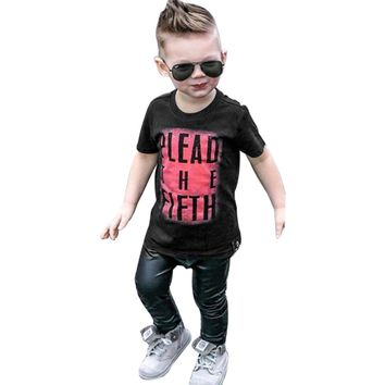 Boys Tops Summer 2017 Fashion Children T shirts Boys Clothes Kids Tee Shirt Fille Cotton Letter Printed Baby Boy Clothing 2-6Y