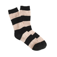 RIBBED STRIPE TROUSER SOCKS