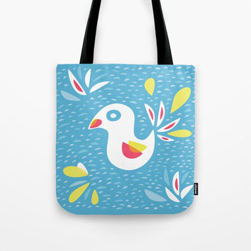 Abstract Bird In Spring Tote Bag by borianagiormova
