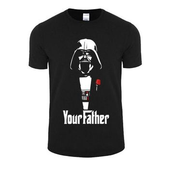 DK7G2 New Fashion Star Wars Darth Vader T Shirts Men Cotton O Neck  Emoji Man t shirt Short Sleeve  Mens Tops  Plus Size Free Shipping