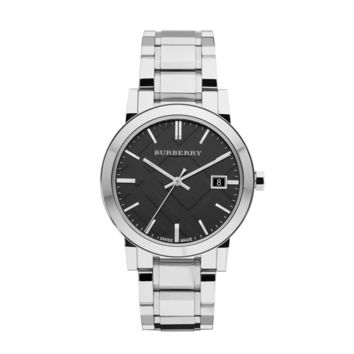 Burberry Large Check Stainless Steel Watch BU9001