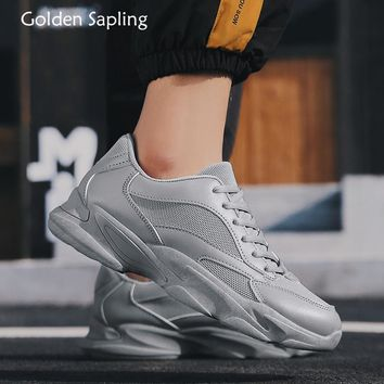 Golden Sapling Breathable Man Sneakers