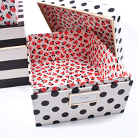 Kate Spade Nesting Boxes - Black Stripe - See Jane Work