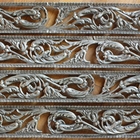 "4 Nickel Plated Floral Panels 22"" long Furniture Accents"