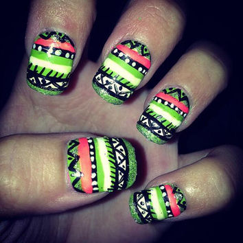 Set of Tribal Nails - Customizable