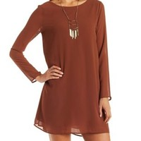 Rust Jella Bow-Back Shift Dress by Charlotte Russe