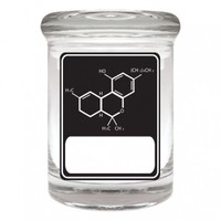 Cannaline Glass Stash Jar - Writables - THC Molecule - Black - Sale Items - Grasscity.com