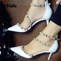 Women's Sexy Pointed Buckle Strap High Heels