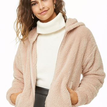 Faux Fur Zip-Up Hoodie