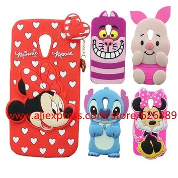 For Motorola MOTO G2 Case Cover Cute Pig Minnie Stitch Tiger Rabbit Minions Silicone Phone Back Cases For Moto G2 XT1068 XT1069