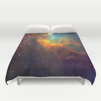 Tulip Galaxy stars Duvet Cover by Laureenr