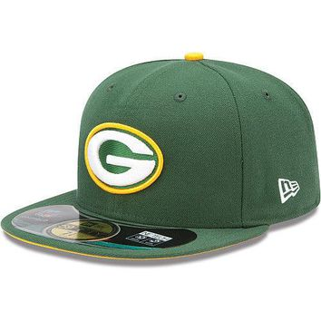 New Era Hat Cap NFL Football Green Bay Packers 7 7/8 59fifty 2012 Sideline