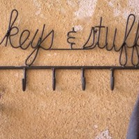 raw metal hooks for your keys and stuff