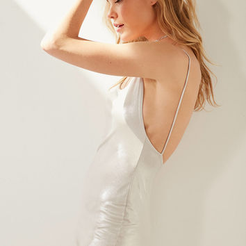 Silence + Noise Open Back Shimmer Mini Dress | Urban Outfitters
