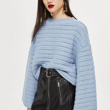 Cropped Wide Sleeve Jumper