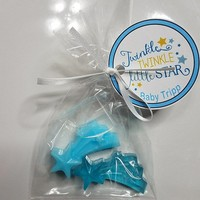 Twinkle Little Star Baby Shower Favors - Personalized tags & bags Love You to the Moon and Back custom made | Pack of 10