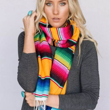 Mexican Sarape Blanket Scarf