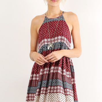 Picnic Pattern Tank Dress