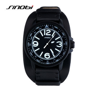 Leather strap watches sport casual Waterproof