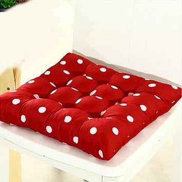 41*41cm Cheap Soft Home Office Outdoor Polka Dots Square Seat Pad Thicken Cushion Buttocks Chair Cushion Cojines Decorativos