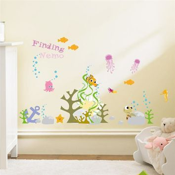 Finding Nemo Underwater Bubble Seaweed Wall Stickers