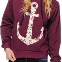 Workshop Ditsy Floral Anchor Pullover Hoodie
