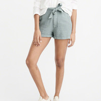 Womens Belted High-Rise Shorts | Womens New Arrivals | Abercrombie.com