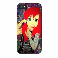 Ariel Little Mermaid Tattoo With Flower Cover iPhone 5 Case