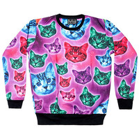 Space Cats Sweatshirt [MULTI] | KILLSTAR