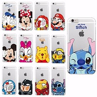 Apple iPhone 4 5 6 7 Plus 8 8Plus X Samsung Characters Back Cover Skin Minnie Mickey Soft Case