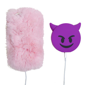 DEVIL EMOJI PORTABLE PHONE CHARGER