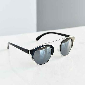 Gravity Flash Aviator Sunglasses- Black One