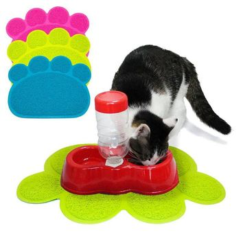 NEW Pet Dish Bowl Food Water Paw Shape Style Placemat