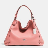 EDIEshoulder bagin pebble leather