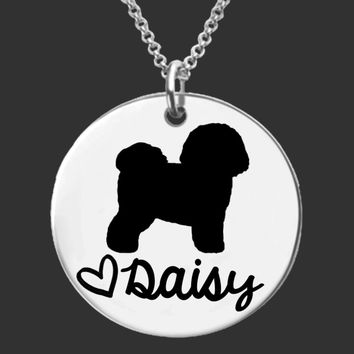 Bichon Frise Dog Personalized Necklace
