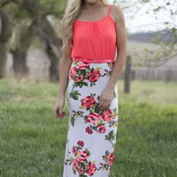 Beauty Within Floral Maxi in Ivory
