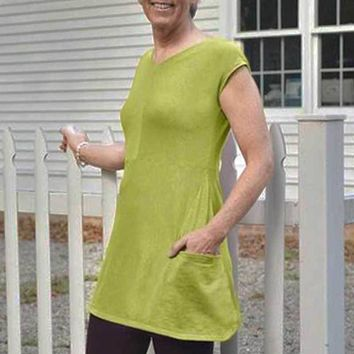 Organic Cotton Slub Tunic with Pockets