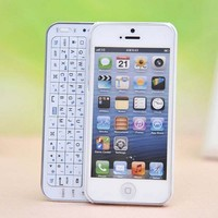 Sliding Bluetooth Wireless Keyboard Case Hard Cover for Iphone 4/4s/5
